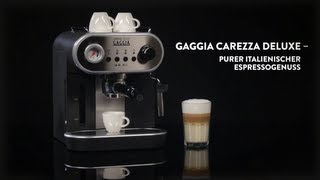 Gaggia carezza Deluxe video